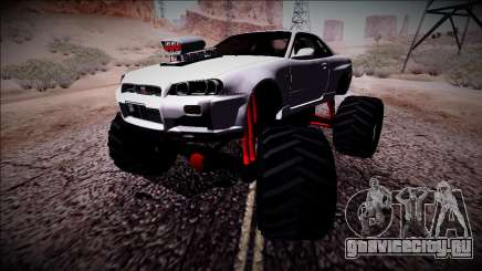 Nissan Skyline R34 Monster Truck для GTA San Andreas
