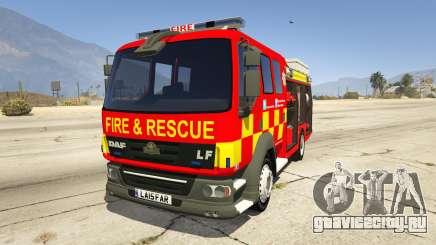 DAF Lancashire Fire & Rescue Fire Appliance для GTA 5