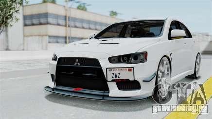 Mitsubishi Lancer Evolution X GSR Full Tunable для GTA San Andreas