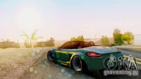 Porsche Boxster GTS LB Work для GTA San Andreas вид слева