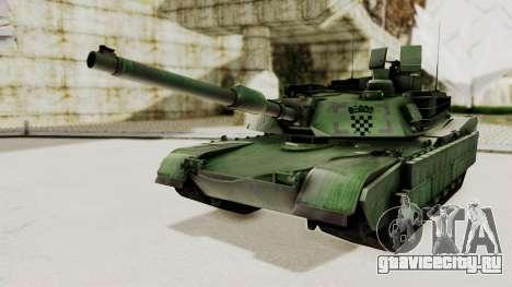 M1A2 Abrams Woodland Croatian для GTA San Andreas вид сзади слева