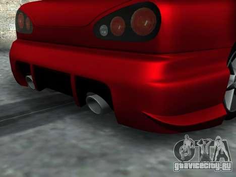 Elegy PFR v1.0 для GTA San Andreas вид изнутри