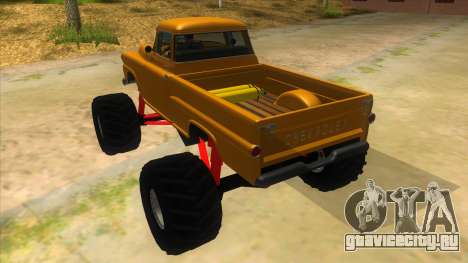 1958 Chevrolet Apache Monster Truck для GTA San Andreas вид сзади слева
