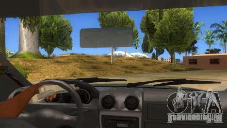 Dacia Logan V2 Final для GTA San Andreas вид изнутри