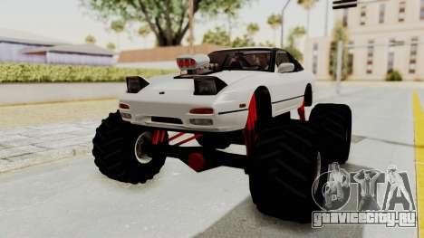 Nissan 240SX Monster Truck для GTA San Andreas вид справа