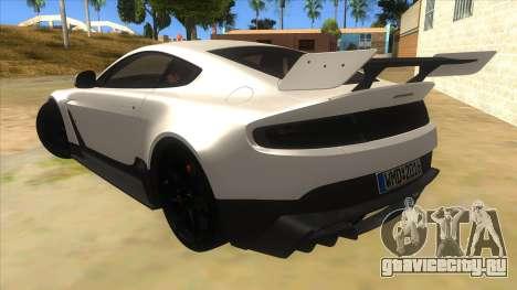 2015 Aston Martin Vantage GT12 для GTA San Andreas вид сзади слева