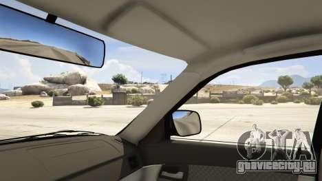 Лада Седан Баклажан для GTA 5 вид справа
