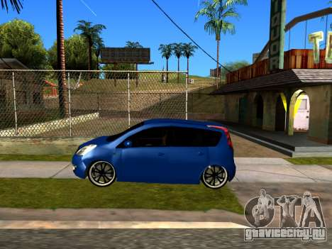 Nissan Note KURMIN StreetRacer для GTA San Andreas вид сзади слева