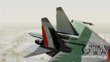 SU-30 MKI для GTA San Andreas вид сзади слева