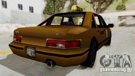 GTA 3 - Taxi для GTA San Andreas вид сзади слева