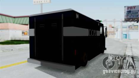 CCPD Boxville from Manhunt для GTA San Andreas вид сзади слева