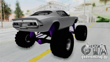 Chevrolet Camaro Z28 1970 Monster Truck для GTA San Andreas вид сзади слева