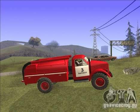 Газ 63 Пожарная машина для GTA San Andreas вид слева