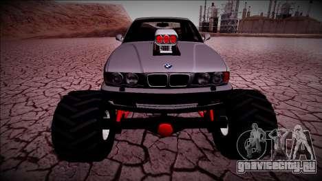 BMW M5 E34 Monster Truck для GTA San Andreas вид сзади