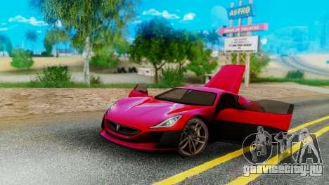 Rimac Concept One для GTA San Andreas вид слева