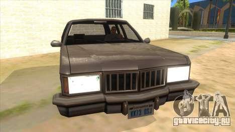 Regina Coupe для GTA San Andreas вид сзади
