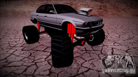 BMW M5 E34 Monster Truck для GTA San Andreas вид справа