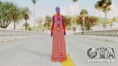 Mass Effect 3 Aria TLoak Dress для GTA San Andreas второй скриншот