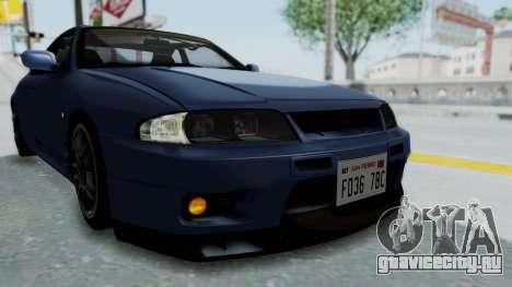 Nissan Skyline R33 GT-R V-Spec 1995 для GTA San Andreas вид сверху