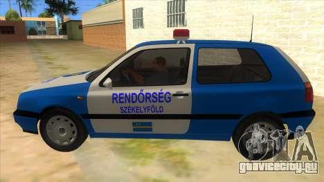 Volkswagen Golf 3 Police для GTA San Andreas вид слева