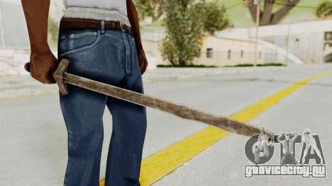 Skyrim Iron Long Sword для GTA San Andreas