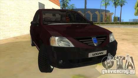 Dacia Logan V2 Final для GTA San Andreas вид сзади