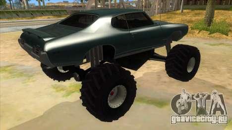 1969 Pontiac GTO Monster Truck для GTA San Andreas вид справа