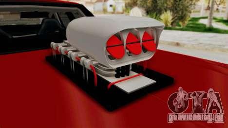 Dodge Monaco 1974 Drag для GTA San Andreas вид сзади