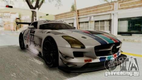 Mercedes-Benz SLS AMG GT3 PJ3 для GTA San Andreas вид снизу