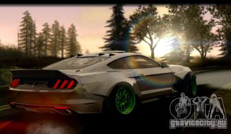 Ford Mustang RTRX Coupe для GTA San Andreas вид сзади слева