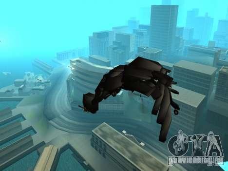 The Dark Knight Rises BAT v1 для GTA San Andreas вид сверху
