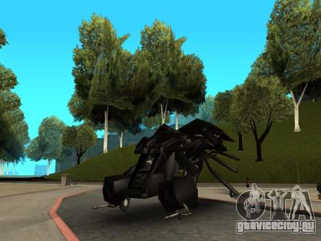 The Dark Knight Rises BAT v1 для GTA San Andreas вид сзади