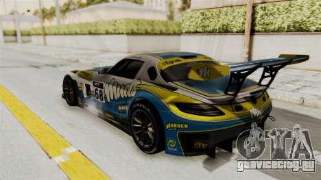 Mercedes-Benz SLS AMG GT3 PJ3 для GTA San Andreas вид изнутри