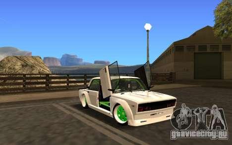 VAZ 2107 Race для GTA San Andreas вид сзади слева