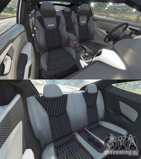 Hyundai Veloster Turbo для GTA 5 вид справа