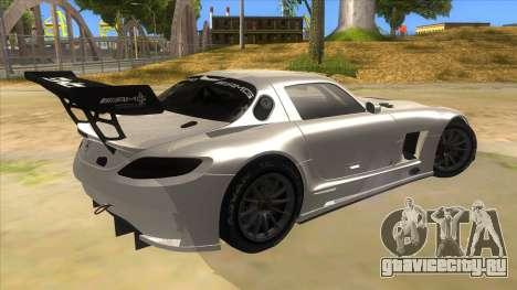 Mercedes Benz SLS AMG GT3 для GTA San Andreas вид справа