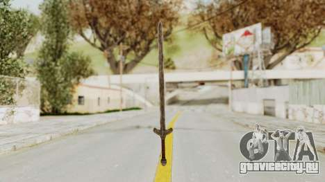 Skyrim Iron Long Sword для GTA San Andreas