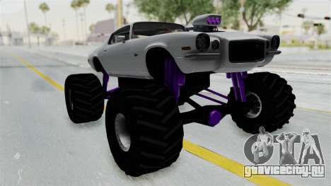 Chevrolet Camaro Z28 1970 Monster Truck для GTA San Andreas вид справа