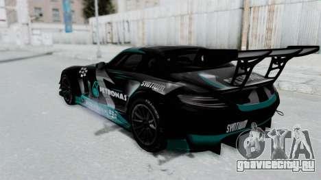 Mercedes-Benz SLS AMG GT3 PJ6 для GTA San Andreas вид сверху