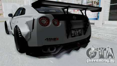Nissan GT-R R35 2010 Liberty Walk для GTA San Andreas вид изнутри