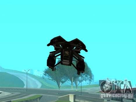 The Dark Knight Rises BAT v1 для GTA San Andreas вид снизу