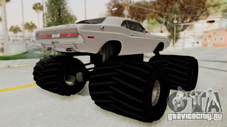 Dodge Challenger 1970 Monster Truck для GTA San Andreas вид слева