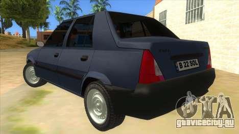 Dacia Solenza V2 для GTA San Andreas вид сзади слева