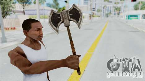 Skyrim Iron Battle Axe для GTA San Andreas третий скриншот