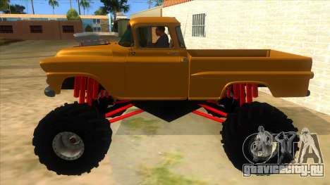 1958 Chevrolet Apache Monster Truck для GTA San Andreas вид слева