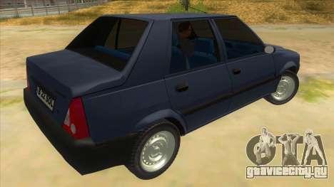 Dacia Solenza V2 для GTA San Andreas вид справа