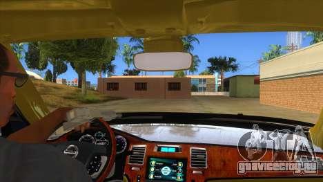 Nissan Patrol 2016 для GTA San Andreas вид изнутри