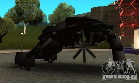 The Dark Knight Rises BAT v1 для GTA San Andreas вид слева