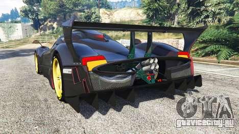 Pagani Zonda R для GTA 5 вид сзади слева