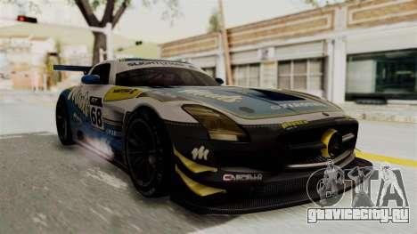 Mercedes-Benz SLS AMG GT3 PJ3 для GTA San Andreas вид сзади